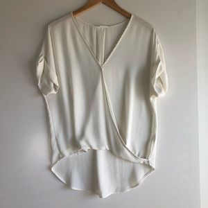 3/$25 SALE Lush Off White Cream Wrap Blouse